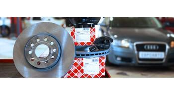 Замена тормозных дисков и колодок Audi A3