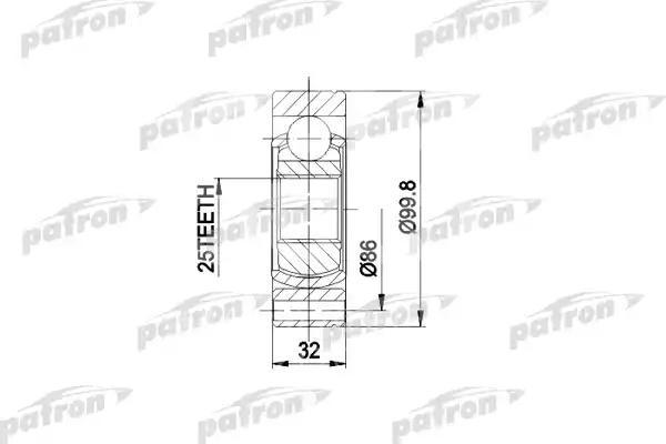 ШРУС наружный/внутренний задний Patron PCV3002