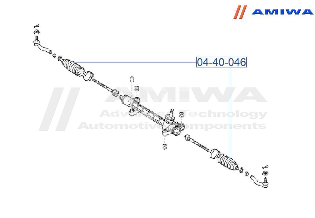 Рейка рулевая Amiwa 04-40-046
