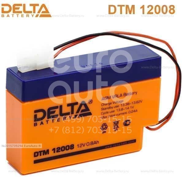 Аккумулятор мото Delta DTM12008