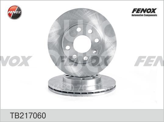 Диск тормозной передний вентилируемый FENOX TB217060