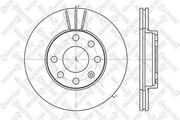 Диск тормозной передний вентилируемый Stellox 60203608VSX