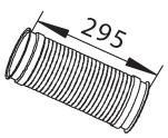 Гофра глушителя Dinex 68092